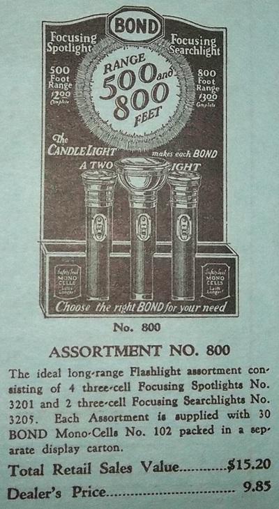 bond flashlights
