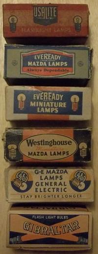 vintage flashlight bulbs