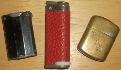 3 old lighters