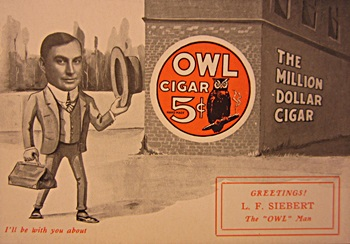 owl cigar card