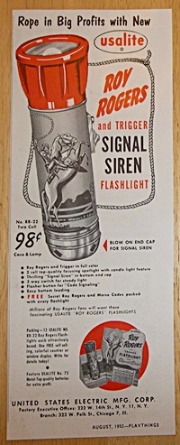 Roy Rogers Flashlight Ad